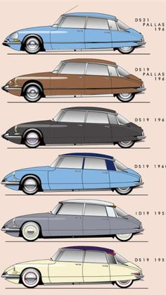 Cars Discover Classic Cars : The evolution of the Citroen DS! Cars Vintage, Retro Cars, Carros Retro, Psa Peugeot Citroen, Citroen Ds5, Automotive Design, Car Car, Motor Car, Concept Cars