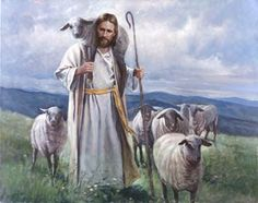 The Good Shepherd. Jesus Christ often referred to himself as a shepherd of men. This painting depicts him as a shepherd of a flock, helping the one that can't quite make it on his own. Painting by Del Parson at LDS Art & Gifts Images Du Christ, Images Bible, Pictures Of Christ, Bible Pictures, Jesus Our Savior, Jesus Art, Jesus Is Lord, Lord Is My Shepherd, The Good Shepherd