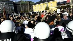Helsingin keskustassa sijaitsevalla Narinkkatorilla järjestettiin lauantai-iltapäivänä kaksi erillistä mielenosoitusta.