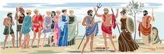 Ο μύθος της ελιάς σε κόμικ. Greek History, Ancient Greece, Mythology, Activities For Kids, Blog, Child, School, Modern, Children