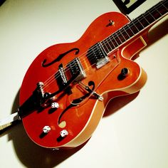 """The Electromatic: """"Setzer-ized"""". It's simple but the stain is beautiful and it sounds amazing. Great neck."""