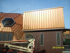 This is one of the metal roofing projects our company completed this year.  It was a 4 dome house, simply beautiful