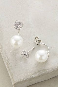 Swept Pearl Earrings