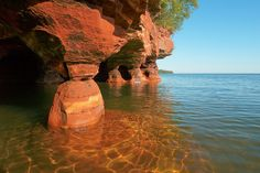 Canoe/kayak around the Apostle Islands (Lake Superior)@Ashley Fairbanks remember when you did this when you were in Girl Scouts...