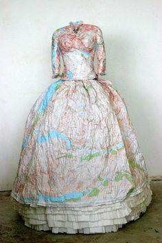 Map Dress – Susan Stockwell