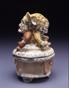 Mayan Sun/Jaguar God Incense Burner, 3rd-6th Century CE (Michael Carlos Museum at Emory Univeristy, Atlanta, GA)