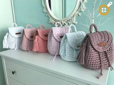 Marvelous Crochet A Shell Stitch Purse Bag Ideas. Wonderful Crochet A Shell Stitch Purse Bag Ideas. Crochet Handbags, Crochet Purses, Crochet Hooks, Knit Crochet, Hand Knit Bag, Crochet Backpack, Crochet Purse Patterns, Yarn Bag, Crochet Shell Stitch