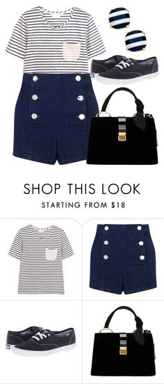 """""""Untitled #1206"""" by ainara26 ❤ liked on Polyvore featuring Chinti and Parker, Miss Selfridge, Keds, Miu Miu and Kate Spade"""