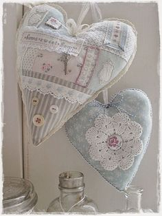 Example of decorations valentine sweet heart templates 6 Lace Heart, Heart Art, Shabby Chic Hearts, Fabric Hearts, Heart Template, Lavender Bags, Heart Crafts, Hanging Hearts, Heart Decorations
