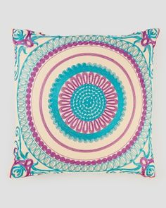 """Geovany Embroidered Decorative Pillow -  18"""", Main View"""