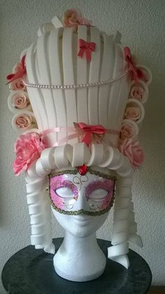White Marie Antoinette Foam от LadyMallemour на Etsy