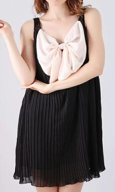 Chiffon pleated dress 6347