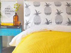 I Love Linen - pineapple pillowcases