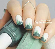 Green Mountain nail art