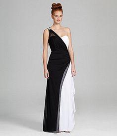 acab7dafd9 Blondie Nites Elegant OneShoulder Gown  Dillards possible dress for winter  formal  One Shoulder Gown