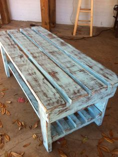 Distressed Cypress Bench/Coffee Table