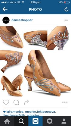 Beautiful ballroom shoes More