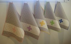 mini cross quilts.