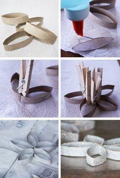 guirlanda feita com rolo de papel higienico