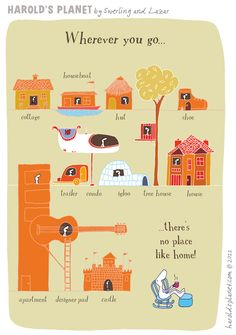 There's no place like home...  {courtesy of Harold's Planet: http://haroldsplanet.com/ }