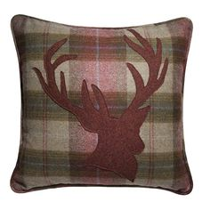Country Living / 8A King Street Interiors / Yorkshire Tweed Cushion with Stag Design