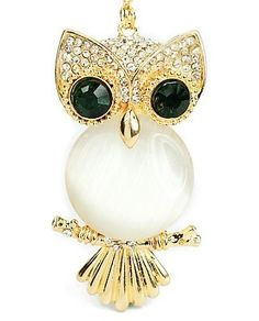New Style Awesome Green Eyes Owl Shaped Pendant Necklaces