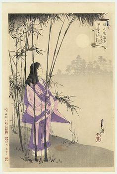 Viewing the Full Moon by Gekko (1859 - 1920)