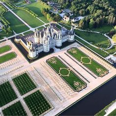"versaillesadness: ""Breathtaking picture of the ! 🏛️ You can notice the incredible work on the new gardens which are made to be admired from the sky 👑 . Futuristic Architecture, Beautiful Architecture, Dream Mansion, Formal Gardens, Beautiful Places, Instagram, The Incredibles, France, Landscape"