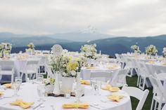 Yellow/White tables