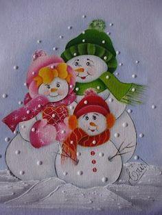 risco para pintura em tecido boneco de neve - Pesquisa Google by oldrose Christmas Makes, Christmas Snowman, Christmas Time, Vintage Christmas, Christmas Ornaments, Painted Glass Blocks, Painted Rocks, Christmas Drawing, Christmas Paintings