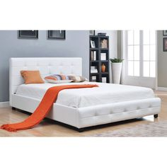 This classy, bonded white leather bed will fit perfectly as the centerpiece of your bedroom set regardless of your chosen style of decor. A classic white bed can be both modern and traditional at the same time, allowing versatility.