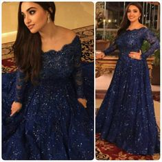 2015 new lady Navy Blue Long Sequin Evening Dresses Robe Longue Bleu Custom Made Long Sleeve Elegant Plus Size Evening Gown-in Evening Dresses from Weddings & Events on Aliexpress.com | Alibaba Group