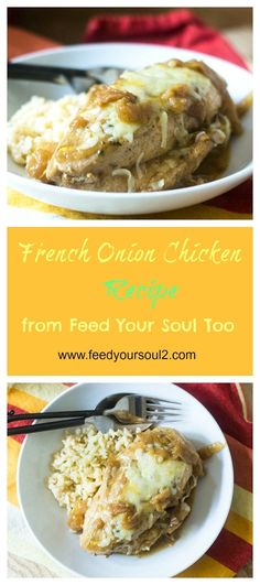 French Onion Chicken from Feed Your Soul Too