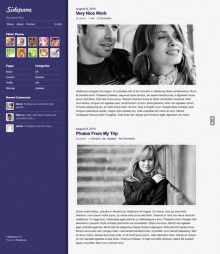 Sidepane WordPress Theme From Themify is uniquely designed Premium WordPress theme with fixed sidebar on left side. Sidepane Theme looks very different because of it's static sidebar design