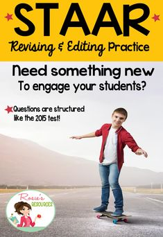 Here's a new set of task cards you will love to get your students engaged in prepping for the STAAR writing test. Each question has been structured like the questions in the 2015 STAAR writing test for 4th graders. Click to read a great new, efficient and effective way to practice. Kids love it!