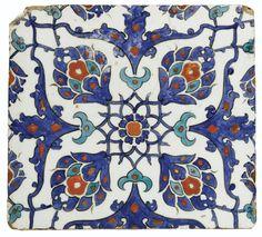 An Iznik Polychrome Square Tile, Turkey, circa 1580 | lot | Sotheby's