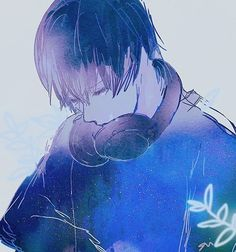 anime, anime boy, and blue Bild