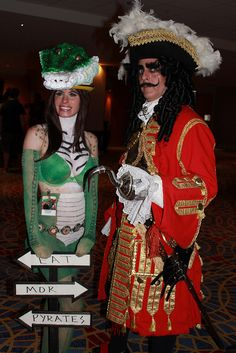 Captain Hook and Croc by bazooked1, via Flickr