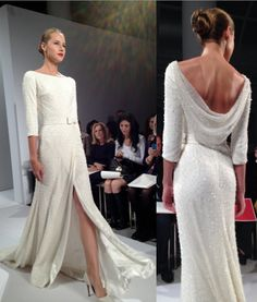 Dennis Basso - Great dress, for second wedding or vow renewal, even for an older bride.