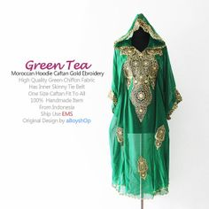 Moroccan Green Tea Sheer Chiffon Hoodie Gold by aboyshop on Etsy, $55.55