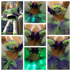 Buzz Light Year Rave Bra by PasseDesigns on Etsy, $125.00