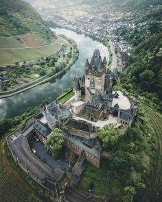 Cochem Castle, Germany Bucket List Destinations, Travel Destinations, Germany Castles, Birds Eye View, Exploration, Best Vacations, Nature Photography, Explore, Adventure
