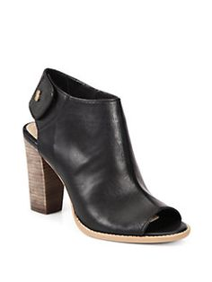 e5bc653b0 Cole Haan Wrey Leather Open-Toe Ankle Boots from Saks Fifth Avenue - Styhunt