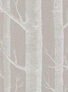 Woods - Designtapete von Cole and Son - Taupe/ Weiß