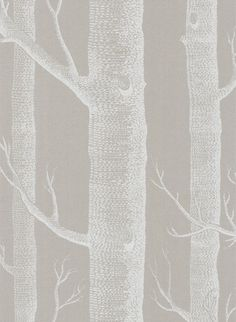 "Cole & Son ""Woods"" wallpaper in taupe"