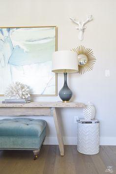 White garden stool via ZDesignatHome