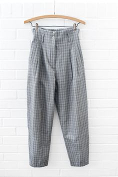Vintage 1980s Super High Waisted Grey Tweed by NosillaVintage