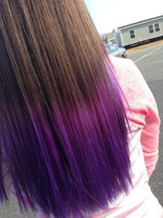 Purple tips~ Just a little bit darker so it kind of blends in with my black hair :)