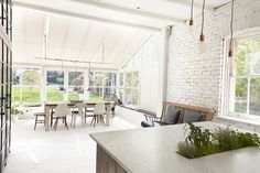 London Victorian, White Expansive Open Kitchen. Direct Access to Garden | Remodelista