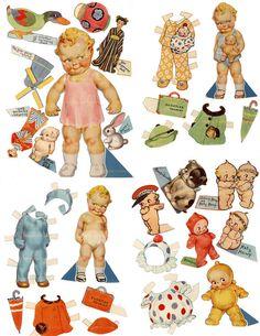 Kewpie papel muñecas Baby SET imprimible para por mindfulresource